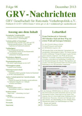 Titelblatt GRVN 98
